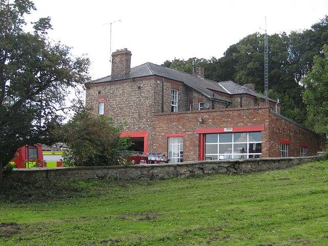 Fire station and comms mast, Malton