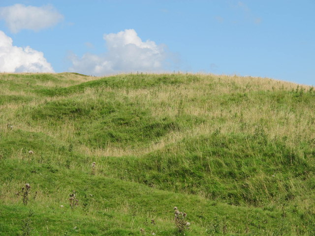 Line of shallow pits near the remains of Moorfield lime kiln