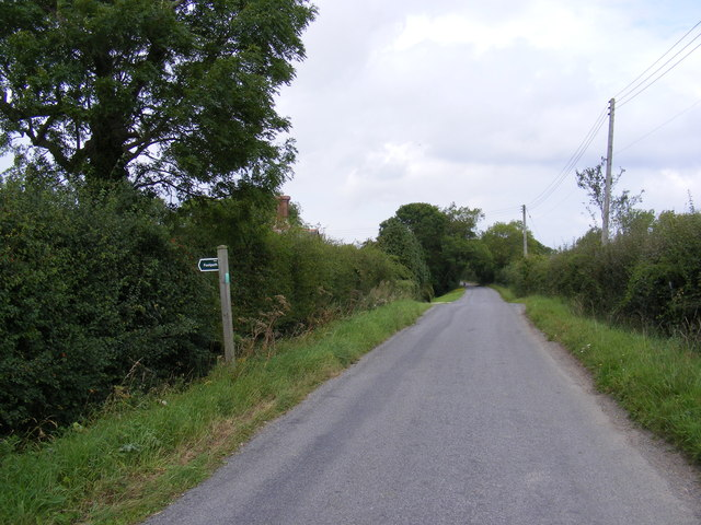 Bedfield Road and the footpath to the A1120 & bridleway to Bedfield Road