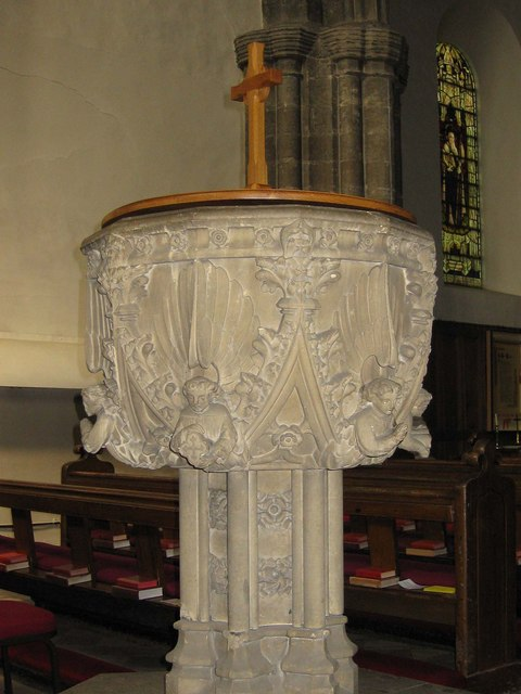 Font, St Mary's Priory Church, Old Malton