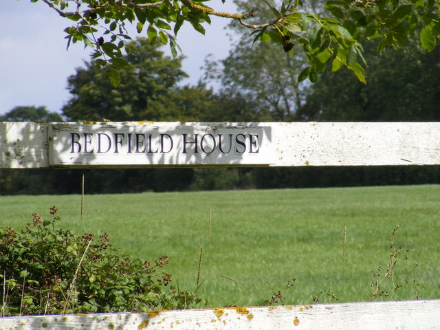 Bedfield House sign