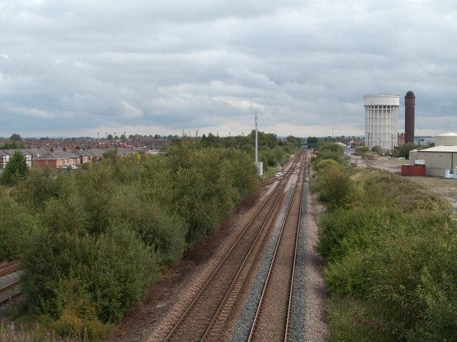 Railway entering Goole