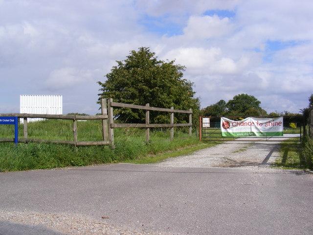 The entrance to Worlingworth Cricket Club
