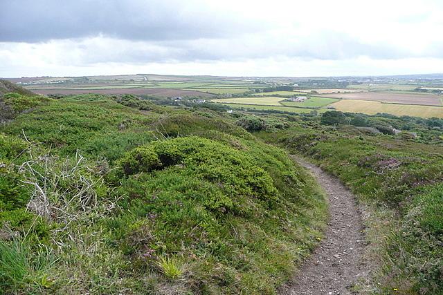 Footpath towards Bolster