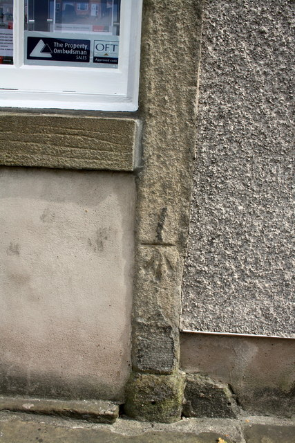 Benchmark on estate agent's premises, The Bailey