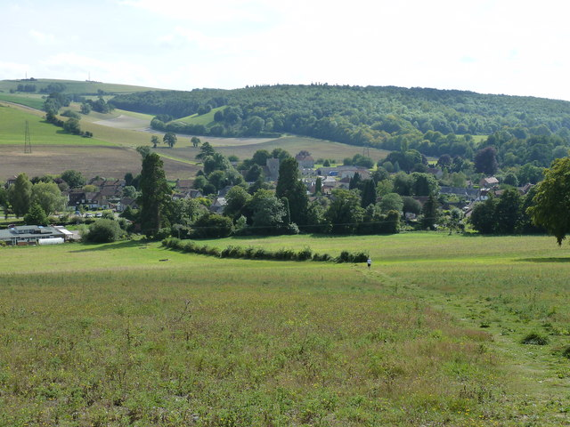 View over Singleton in the River Lavant valley from Levin Down