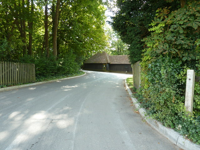 Entrance road for the Weald and Downland Open Air Museum