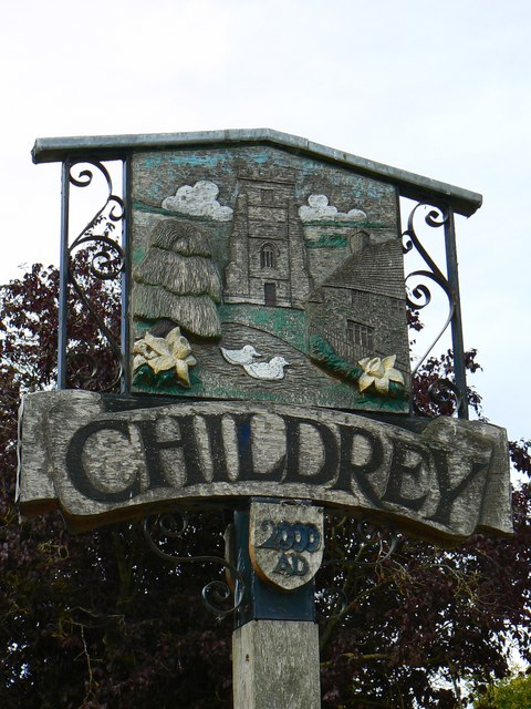 South face of the Village Sign, Childrey