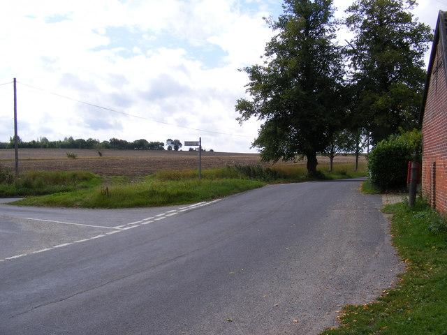 Low Road at Clowes Corner & Clowes Corner Postbox