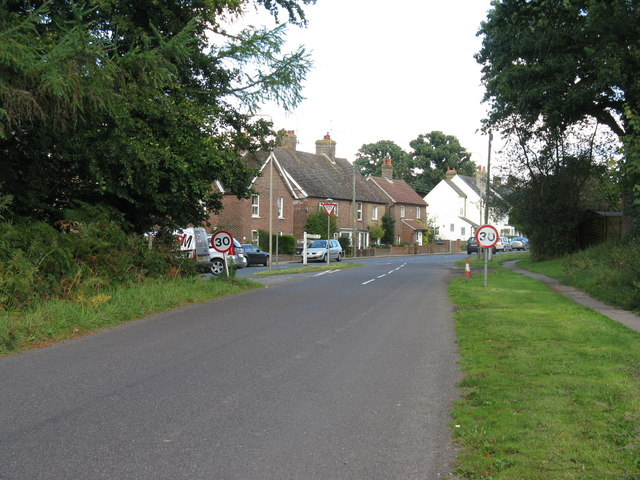 Coos Lane junction with the B2110 at Handcross