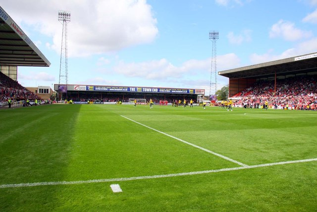The Town End at the County Ground