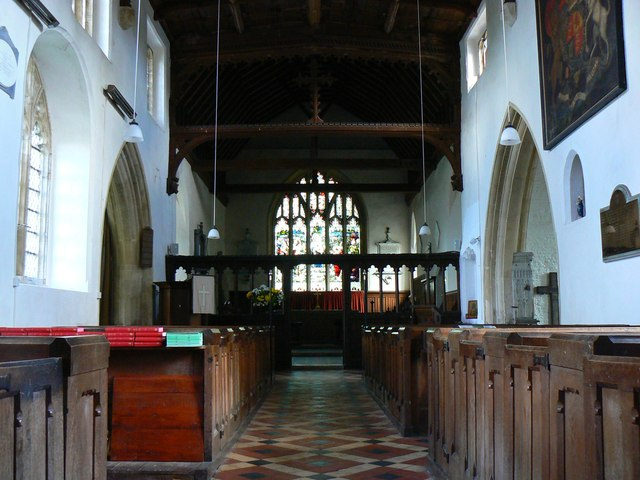 From the nave to the chancel, St Mary's Church, Childrey