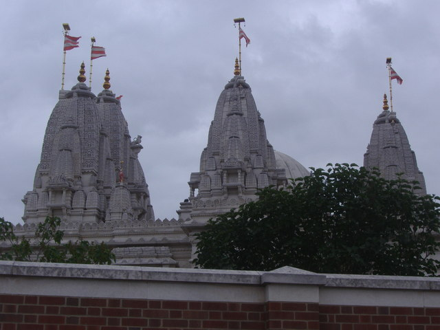 Roof pillars on Neasden Temple