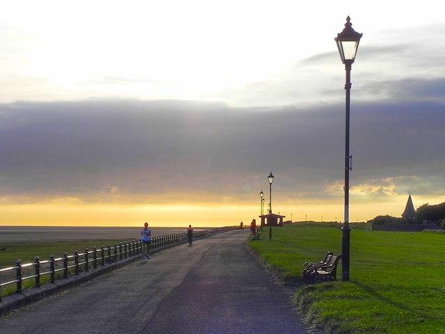 Jogging on the Promenade