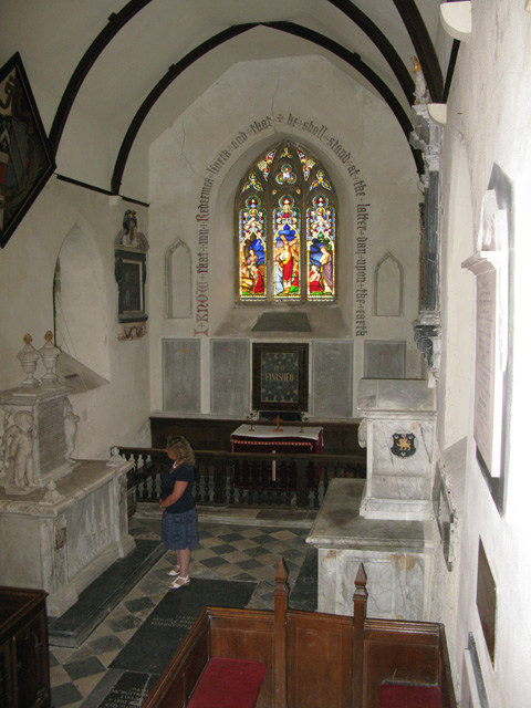 The interior of St Clement church, Knowlton