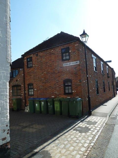 Bins outside Dowley Court
