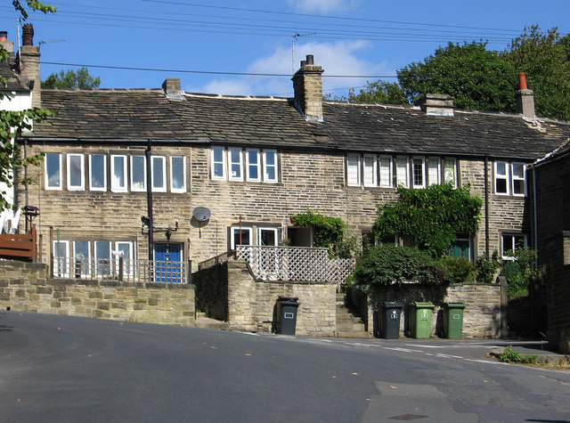 Golcar - weavers cottages on Station Road