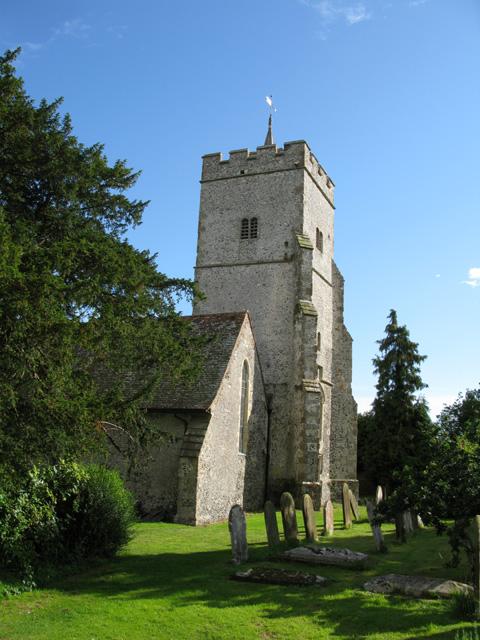 The tower of Holy Cross church, Goodnestone