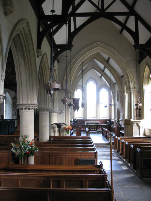 Interior view of South Aisle of Holy Cross church