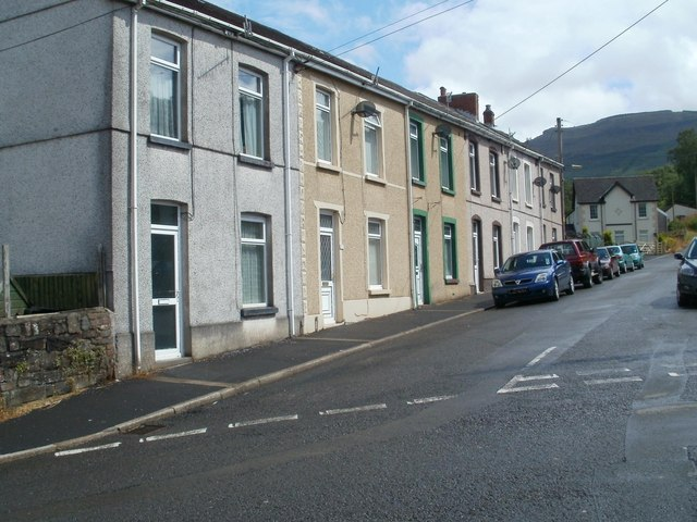 NW side of Glannant Place, Cwmgwrach
