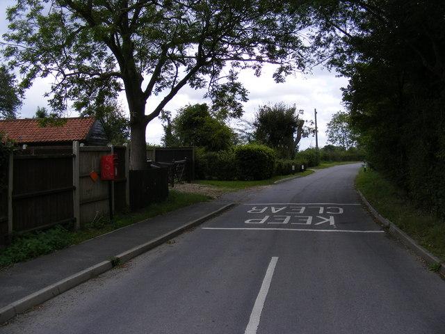 Tannington Road & 1, Southolt Road Post Office Postbox
