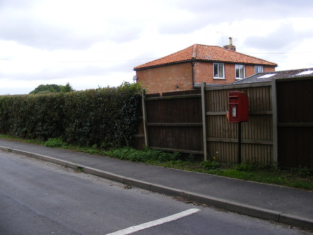 Tannington Road & 1, Southolt Road Post Office Postbox