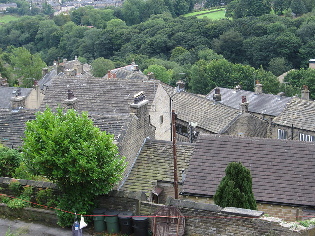 Golcar - rooftops on Carr Top Lane