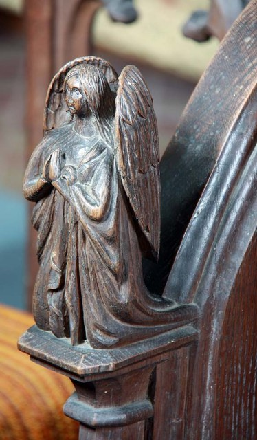 St Mary, Rushall - Bench elbow