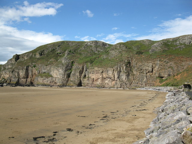Cliffs on the south side of Brean Down