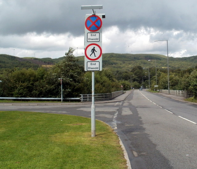 End of two restrictions on the B4242 near Glynneath