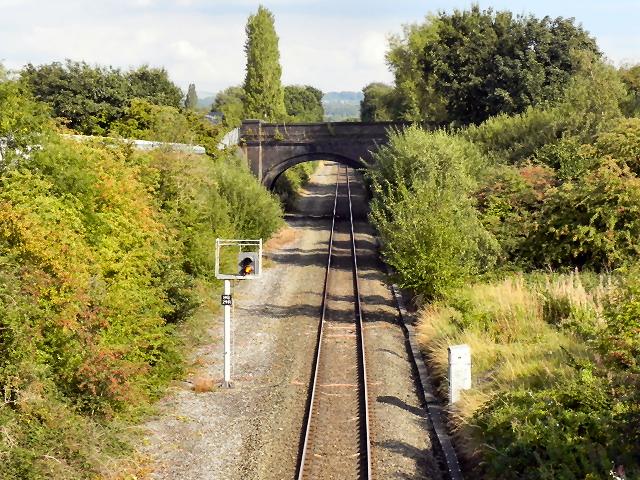 Railway at Bramhall Moor