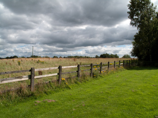 Fence and field at east side of Birch Services