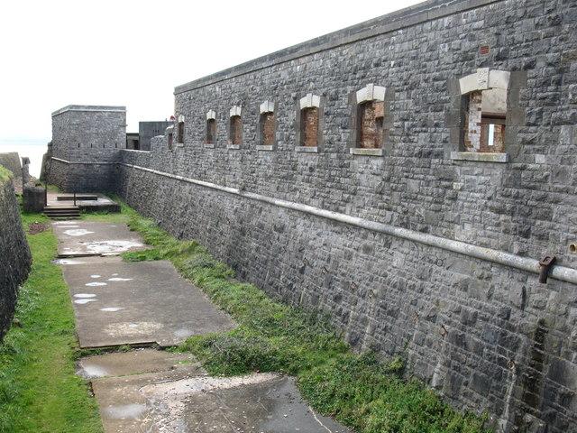 Brean Down fort