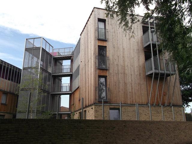 Modern housing in Crossway Estate