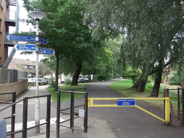 Cyclepath within Crossway Estate
