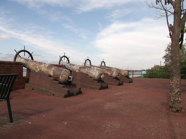Cannons beside the River Thames
