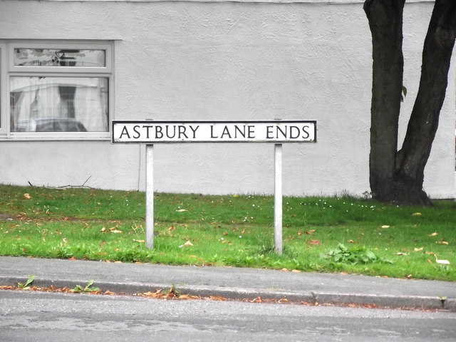 Sign for Astbury Lane Ends