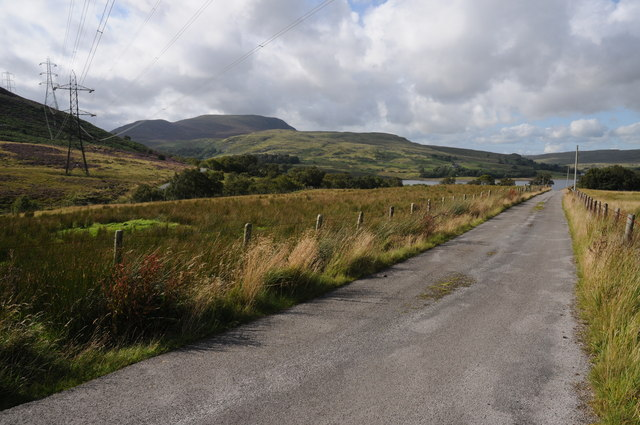 Road near Pont Aber Derfel