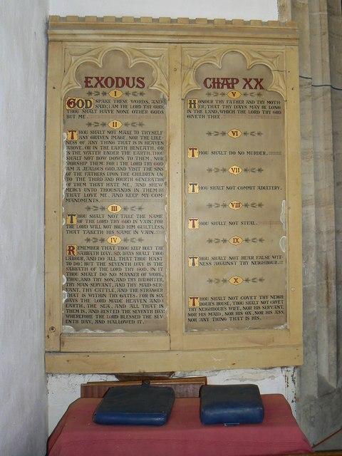 Ten Commandments, St Mary's Church, Childrey
