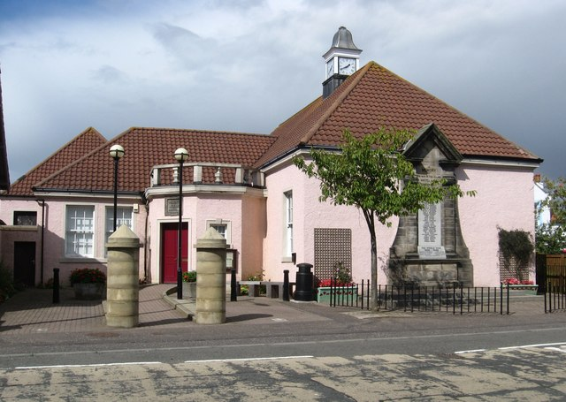 Village Hall and War Memorial in Coaltown of Wemyss