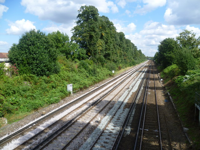 Railway tracks between Bromley South and Bickley