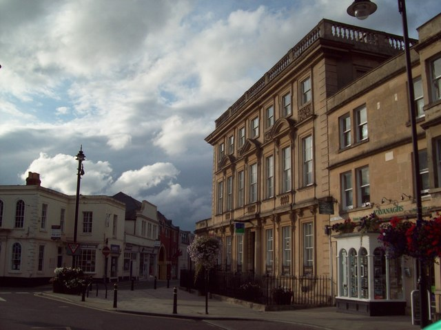 Balustraded Bank Building in Trowbridge