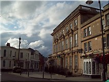 ST8558 : Balustraded Bank Building in Trowbridge by Jonathan Clitheroe