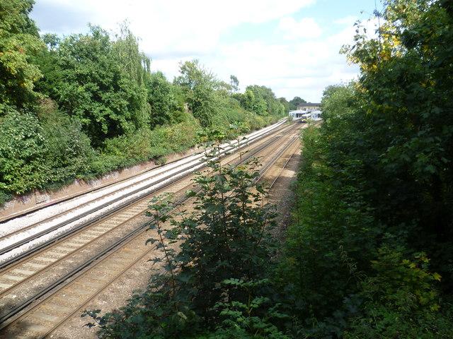 Railway tracks near Bickley