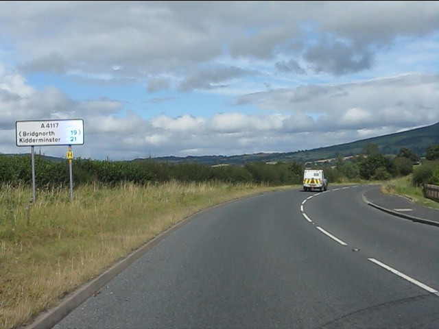 Route confirmatory sign, A4117