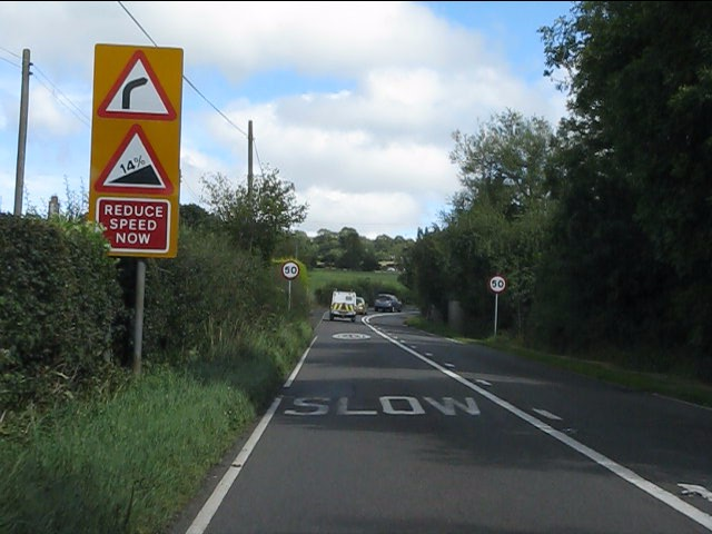 A4117 approaching Angel Bank
