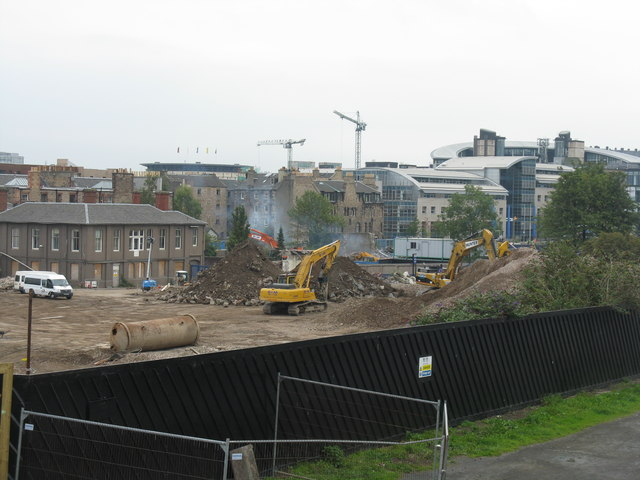 Scottish & Newcastle Brewery demolition at Fountainbridge