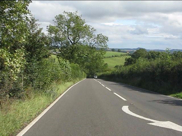 A4117 descending Hopton Bank