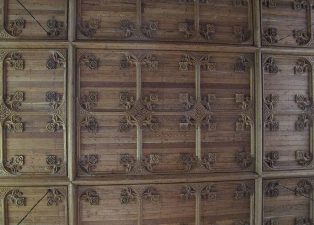 The Church of St. Mary The Virgin - carved ceiling