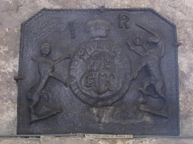 The Church of St. Mary The Virgin - the royal coat of arms of James I